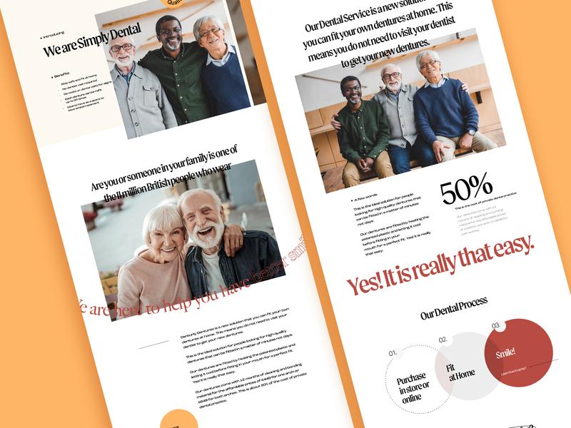 Dental clinic dental homepage webdesign design web concept interface ui
