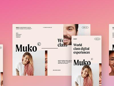Muko - Digital Agency homepage landing website design web design concept ui agency website interface webdesign web agency digital