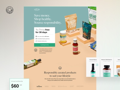 Organic Food (Marketplace), V2 landing ux illustration design branding homepage web design interface ui webdesign web food organic