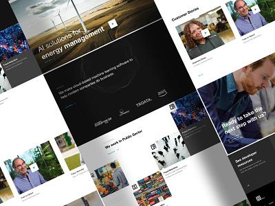 AI Company, V1 company interface ux ui website homepage webdesign design web ai