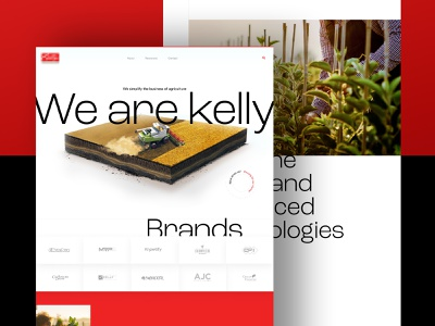 Redesign of kelly-production (Full View) landing clear branding homepage webdesign design web design ux interface ui design ui kelly