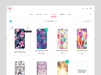 Store for Phone Cases design ux ui clear ecommerce case flat store simple mobile iphone shop