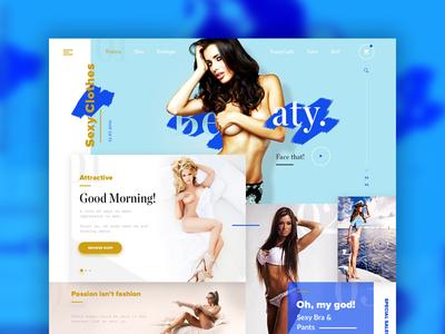 Underwear Shop II sexy ecommerce web store clothes web design ux ui shop underwear
