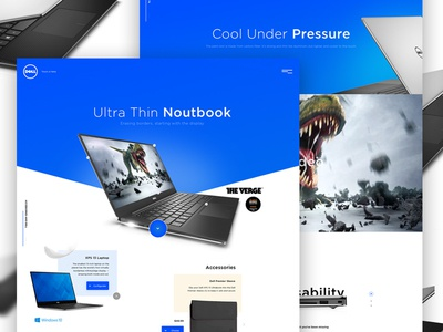 DELL laptop dell concept webdesign uiweekly ux ui design layout template
