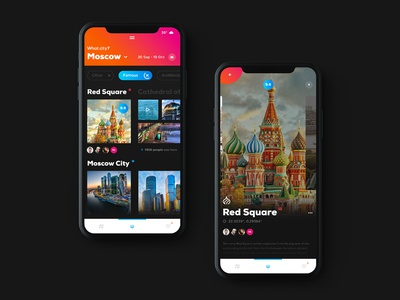 Travel App mobile app digital interface clear ux ui iphone x ios app travel
