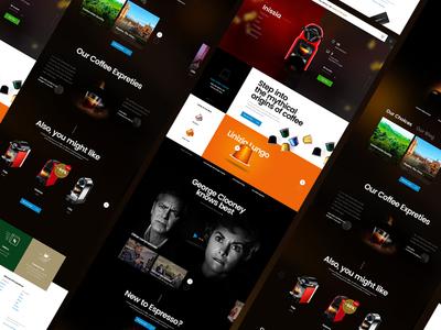 Nespresso Concept Page website homepage web web design landing interface ux ui coffee nespresso