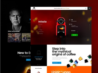 Nespresso Conceptual Page nespresso coffee ui ux interface landing web design web homepage website