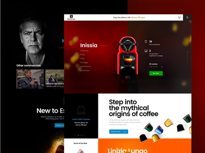 Nespresso Conceptual Page nespresso coffee ui ux interface landing web design web homepage website