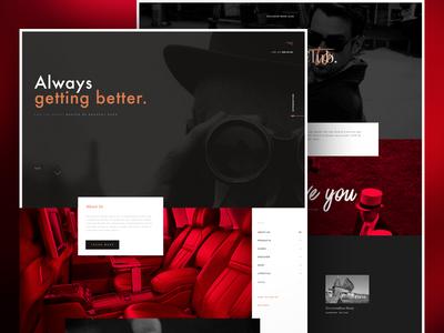 Luxury Concierge site landing homepage website red black ux ui brand interface concierge luxury