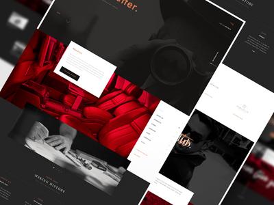 Luxury Concierge luxury concierge interface brand ui ux black red website homepage landing site