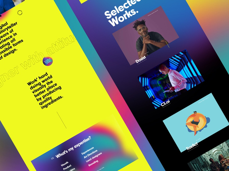 Personal Portfolio. branding readymag animation typography story visual interface web design color minimal website porfolio