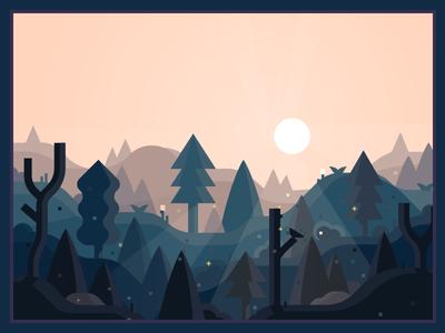 村庄 adobe blue illustration