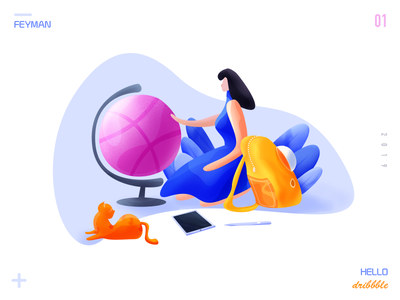 halo dribbble app branding logo web illustration