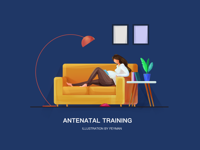 Antenatal training sofar people woman typography design illustration
