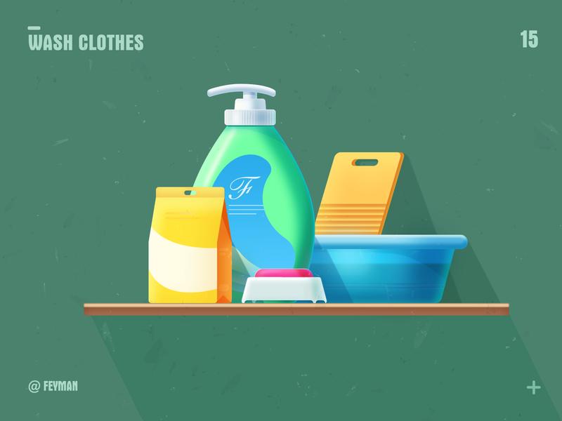 wash clothes washhouse adobe illustration washboard soap basin laundry detergent