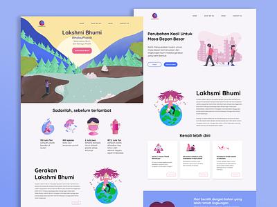 Echo Campaign Microsite - Lakshmi Bhumi illustration uidesign ui design campaignmonitor campaign design branding campaign website builder website concept website design web design webdesign website