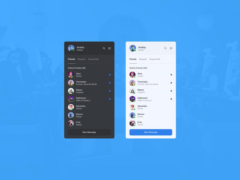 Concept Epic Games | Messages #12 talk group workspace minimalism team ux ui player online messenger messages games friends epic games desktop design concept chat application app