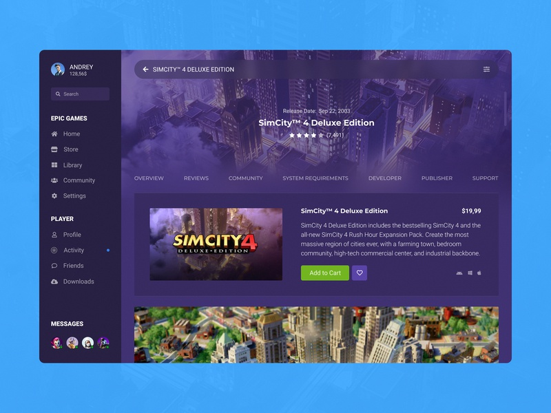 Concept Epic Games | Store Page #29 desktop design ux user experience user interface ui store shop screen purchases player page launcher games feed epic games desktop app cover concept app