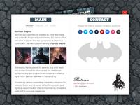 Web Card Batman Begins (Responsive 3D Folded)