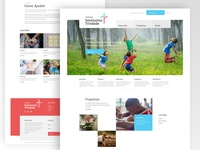 Holy Trinity Institute Website user interface website ngo ux web design ui