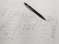 Bah Push Notification App app handmade sketches mobile uiux ui