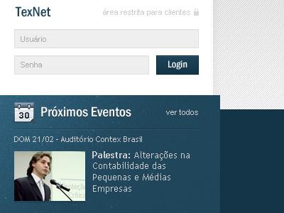 Contex Brasil login events ui texture
