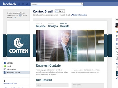 Contex Brasil on Facebook facebook fan pages ui