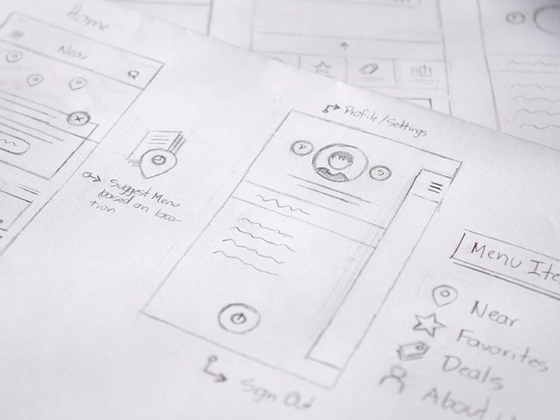 Carddi Sketches sketching sketch ui ux menu ios map profile
