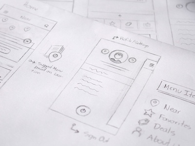 Carddi Sketches sketching sketch ui ux menu ios map profile