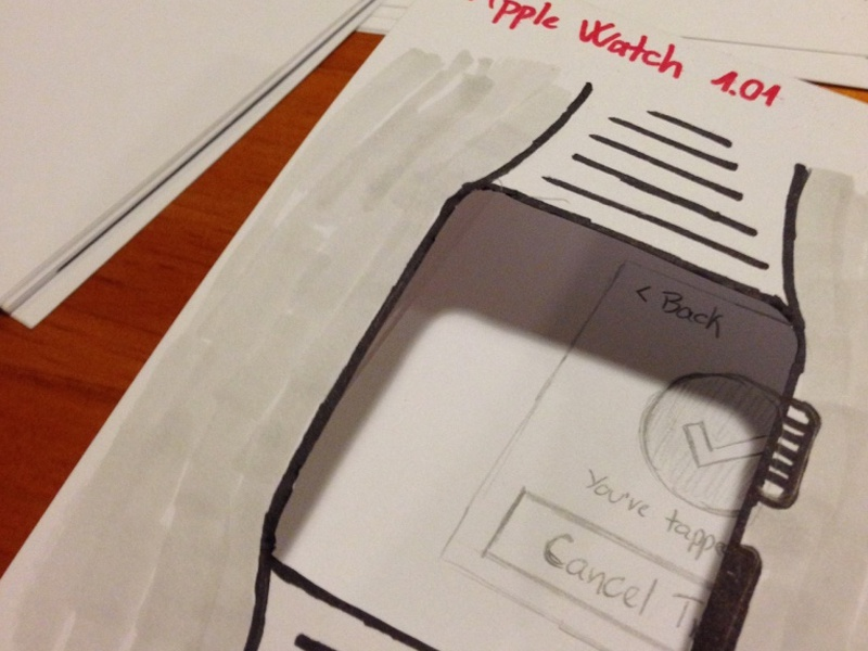 Paper Prototype sketch wearables watch apple watch prototype paper