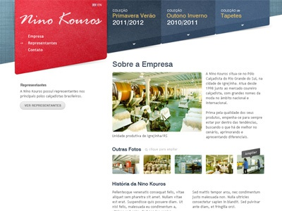 Layout Nino Kouros ui web interface