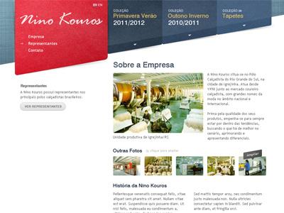 Layout Nino Kouros ui web interface