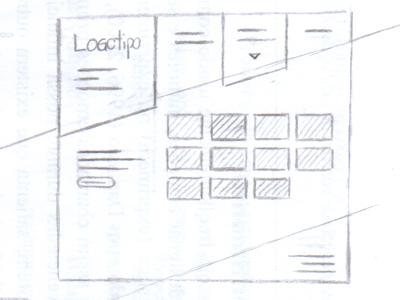 Nino Kouros Sketch sketch wireframe nav menu ui web