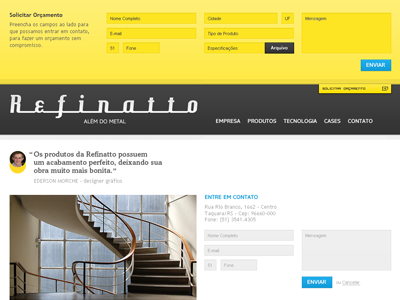 Home Refinatto Handrails ui web yellow home