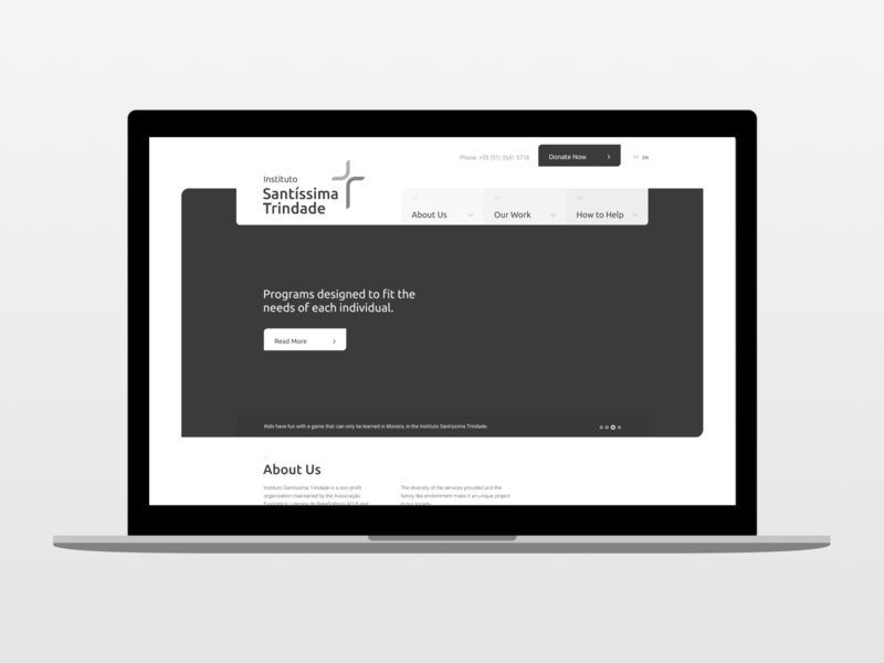 NGO Home Page Wireframe header donate landing page home page non-profit ngo wireframe ui web