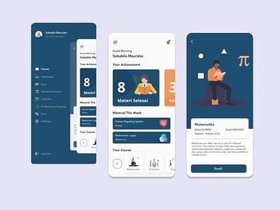 E-learning app clean minimal e-learning mobile ux app ui design
