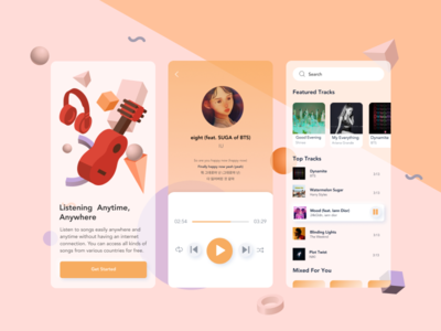 Music Player App music player music app music ux ui mobile design app