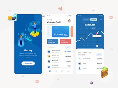 Maney - Financial Management App money app money financial app clean ux ui mobile design app