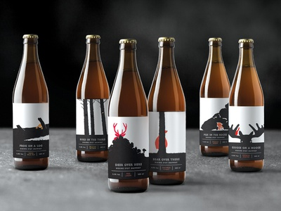 Label Design – Hiding Spot Brewery
