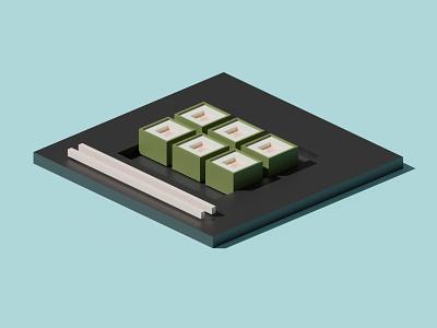 3D Sushi blender design 3d