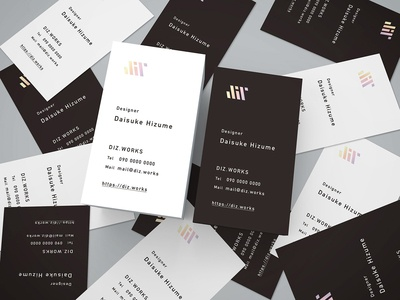 My Biz Card Design japan minimal simple monochrome card bizcard icon logo design