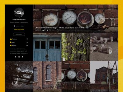 Photo Album Site Prototype Design