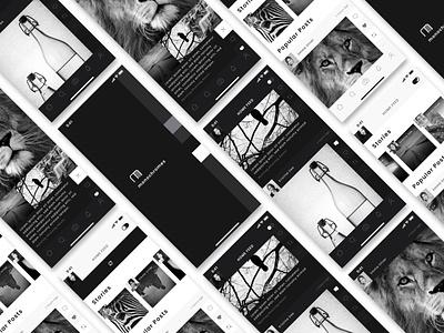 Photo sharing APP [monochromes] Prototype Design iphone minimal logo xd ui ux adobexd icon design japan