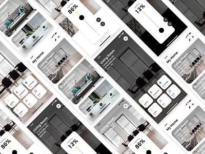 Prototype a SmartHome application. app smarthome home logo iphone xd ux ui adobexd icon design japan