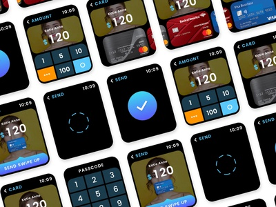 Prototype a SmartWatch Payment application. payment app payment app apple watch xd ux ui adobexd design japan icon