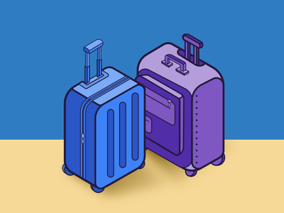 Suitcases illustration traveling suitcases packing vector design illustration