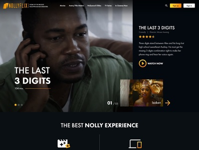 NollyFlix nollywood nigeria movies streaming web deisgn website ui design ux