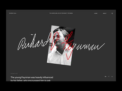 Layout studies editorial white physics science black minimalist user interface ui minimalism design