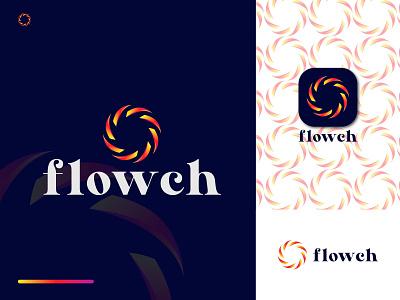 Flowch Modern Logo Symbol for SALE logo trend 2022 dribbble sale vector symbol flowch logo flower logo motion graphics animation ui design illustration vector logo design identity icon f graphic design branding logo 3d