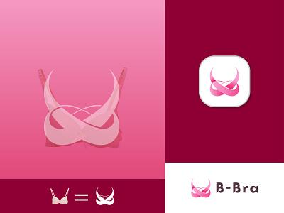 Bra Modern Logo Mark (B-Bra) graphic design 3d ux ui illustration vector logo design logo identity icon design branding bra collection bra colorful bra bra app bra icon bra modern logo bra logos bra logo